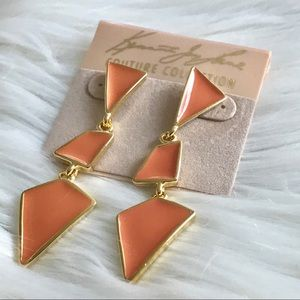 NWT SIGNED KENNETH JAY LANE GEOMETRIC EARRINGS